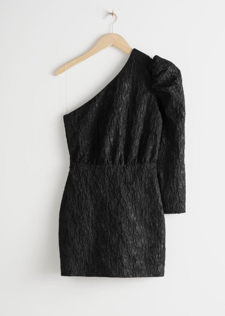 One Shoulder Jacquard Mini Dress (69€ au lieu de 89€)